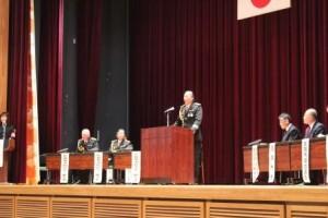 開会の言葉を述べる原田副会長