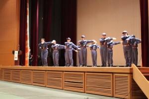 「応急手当体操」を発表する伊万里市消防団員の皆様!